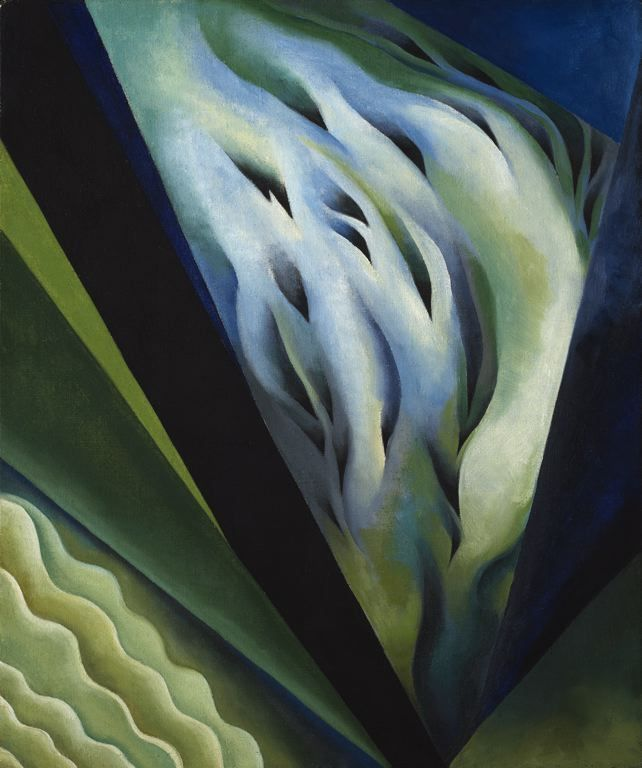 Painting: Blue and Green Music by Georgia O'Keeffe