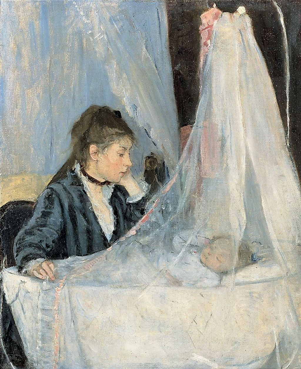 Painting: Le Berceau (The Cradle) by Berthe Morisot